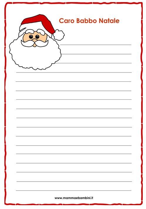 Letterina di Natale per bambini da stampare