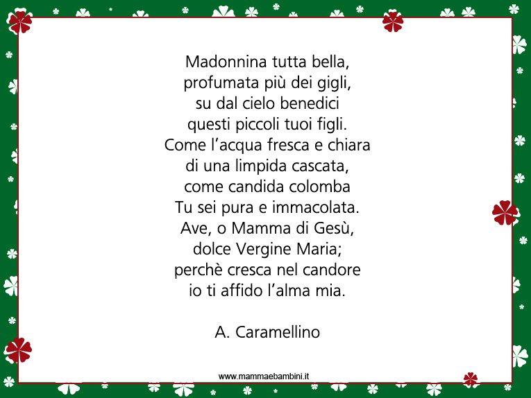 Poesia sulla Madonna per la festa dell'Immacolata Concezione