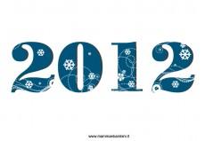 Scritta 2012 da stampare per il nuovo anno
