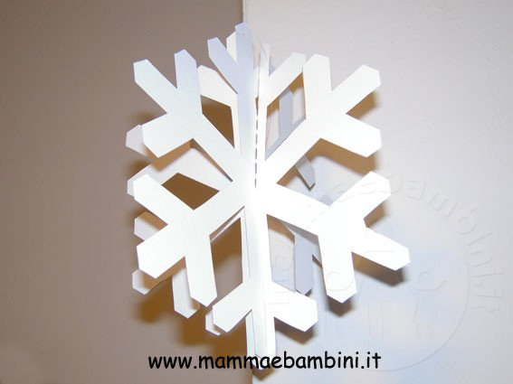 Fiocchi Di Neve Di Carta Facili : Addobbi con fiocchi di neve u mamma e bambini