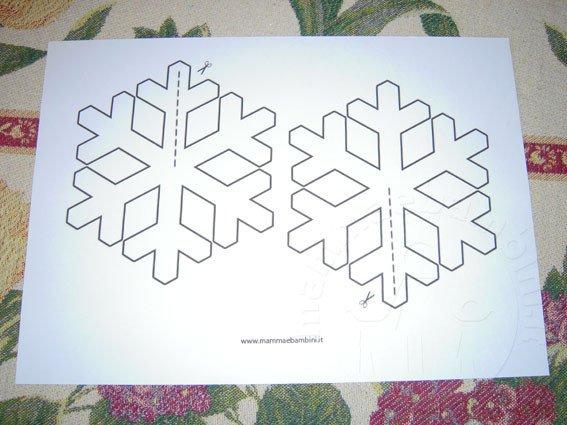 Fiocchi Di Neve Di Carta Da Ritagliare Tutorial : Addobbi con fiocchi di neve u mamma e bambini