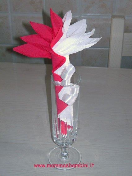 spesso Piegare tovaglioli fiore bicolore - Mamma e Bambini KT54