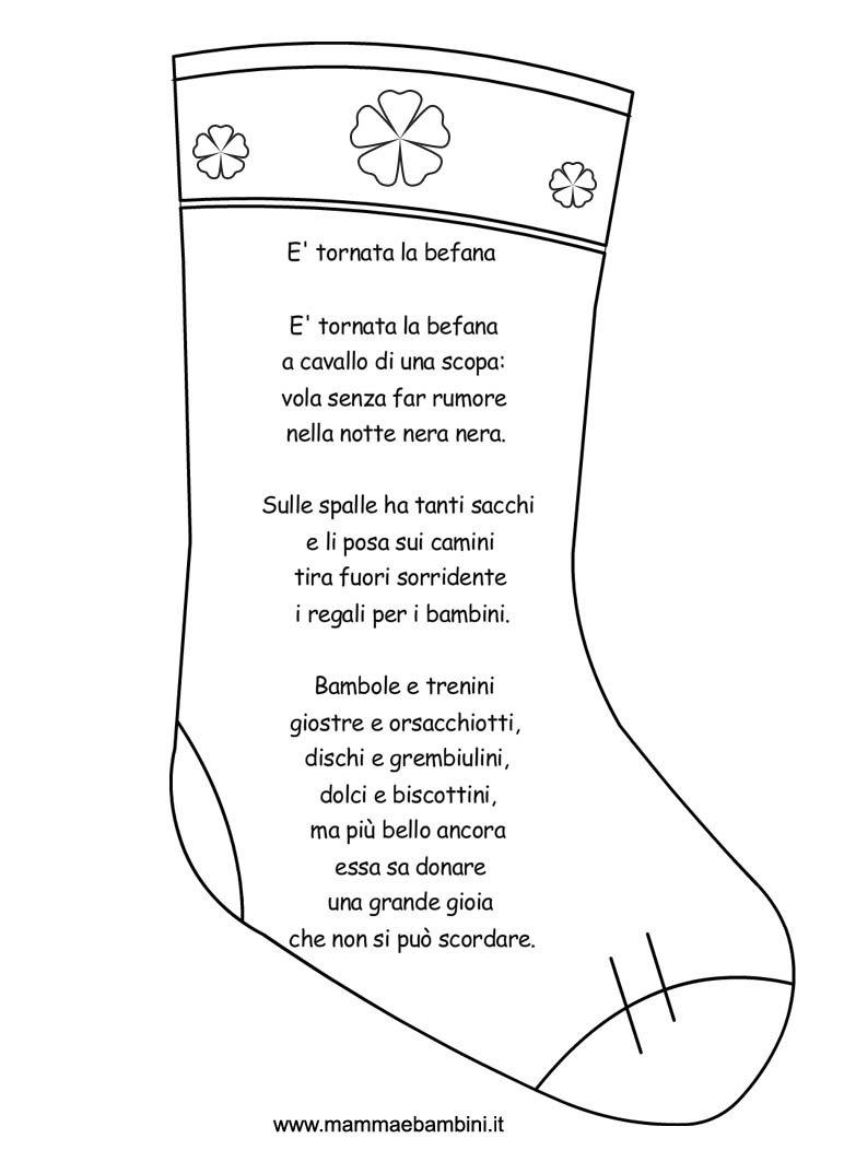 Disegni Sulle Calze Per La Festa Della Befana Mamma E Bambini