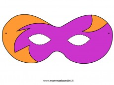 Carnevale maschera da ritagliare