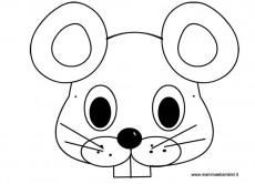 Maschera topo da colorare per bambini