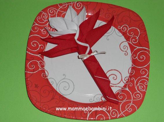 Piegare Tovaglioli Bicolore A Fiore Mamma E Bambini