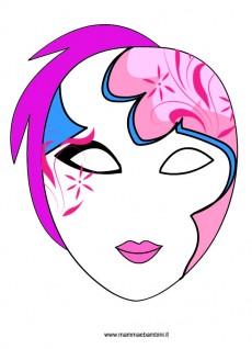 Maschera veneziana da stampare
