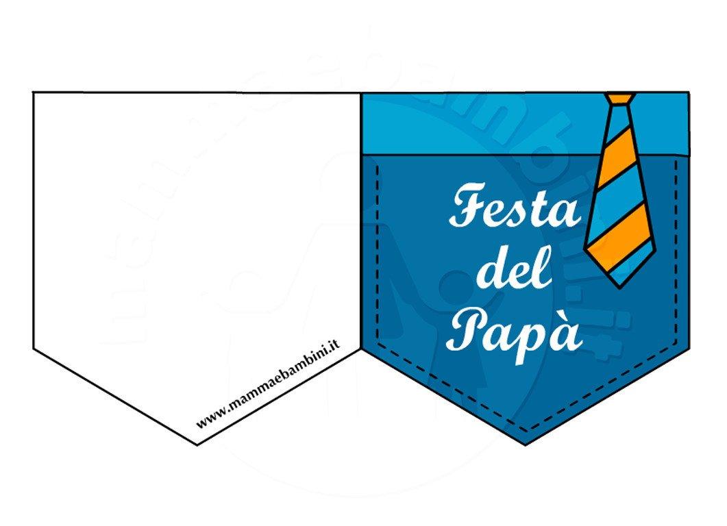 Festa del papà: biglietto a taschino