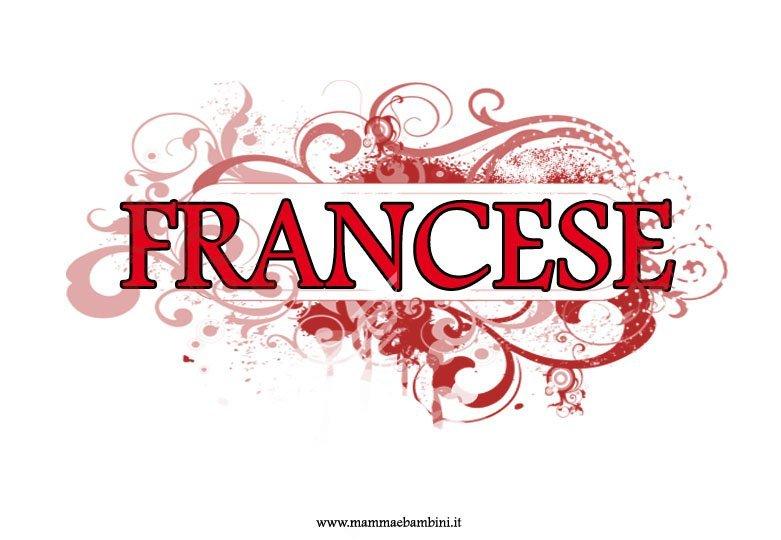 Copertina quaderno francese da stampare