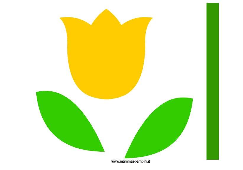 Sagome per realizzare un tulipano