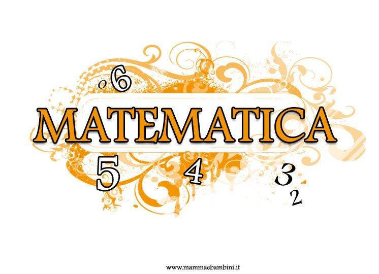 Copertina quaderno matematica da stampare