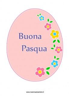 Disegno uovo di Pasqua decorato