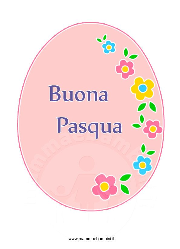 Disegno uovo di Pasqua decorato in pasqua festivita 
