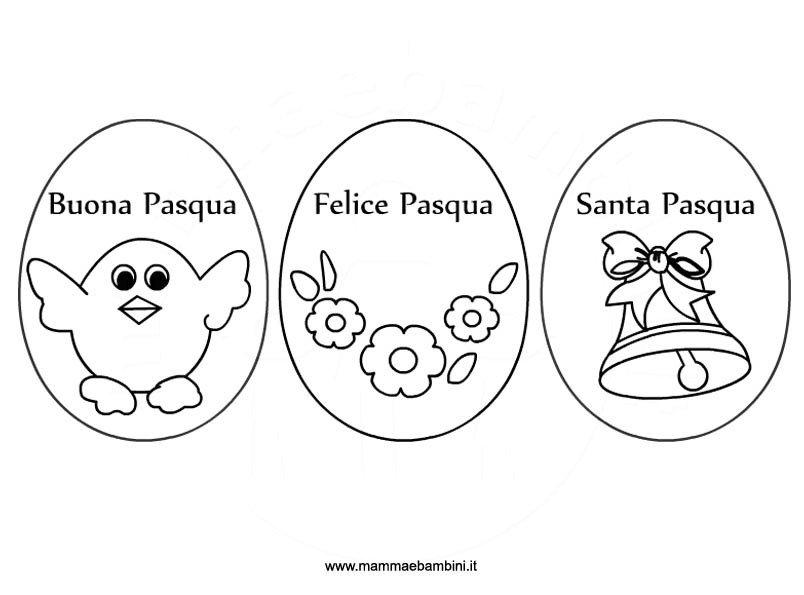 disegni uova da colorare in PDF