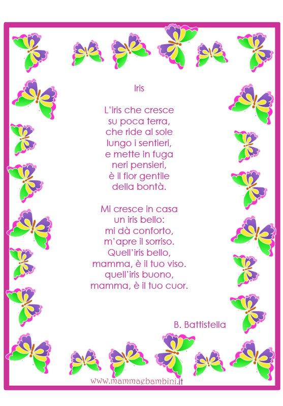 Poesia Iris da stampare sulla mamma
