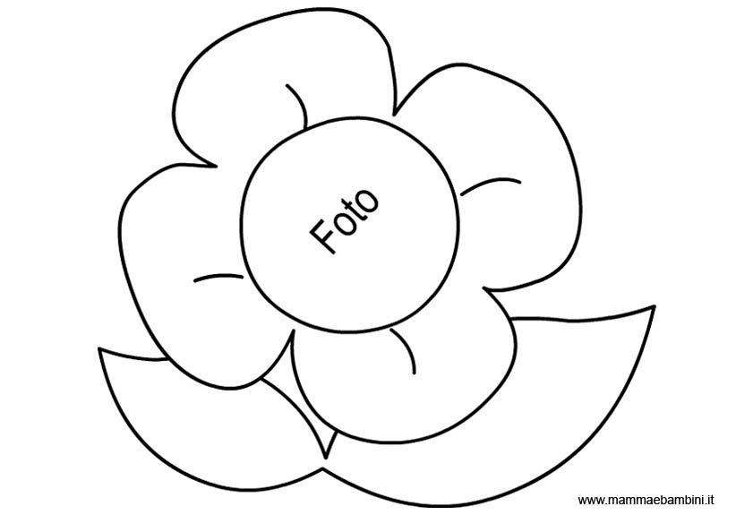 Realizzare un portafoto con dei cartoncini mamma e bambini for Immagini di fiori facili da disegnare
