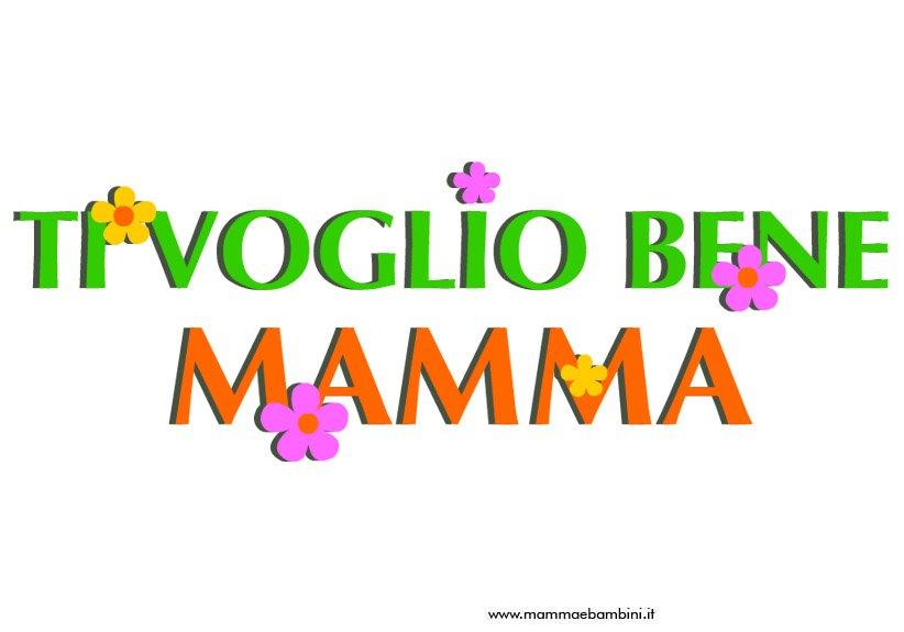 abbastanza Scritta Ti voglio bene mamma da stampare - Mamma e Bambini ZY42