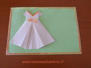 Video su abito di carta con tecnica origami