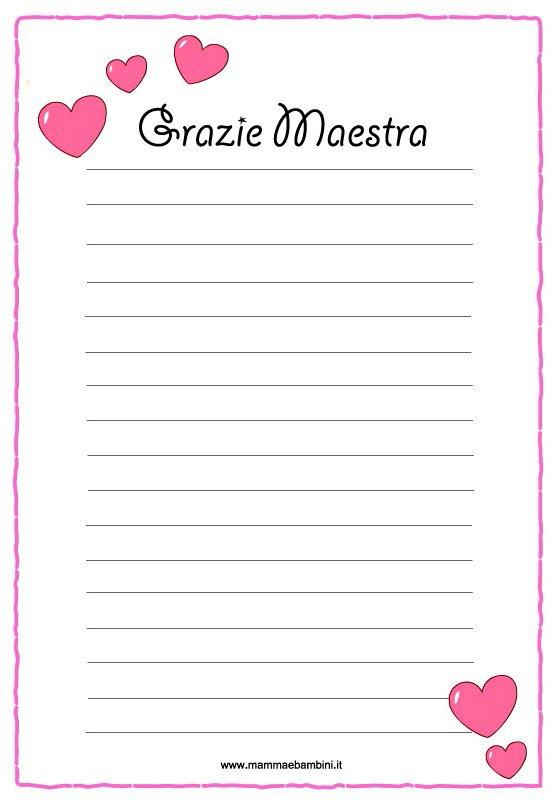 Carta lettere grazie maestra - Fogli da colorare per la marmotta diurna ...