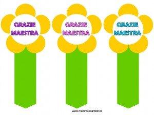 Regalo fine anno per le maestre: segnalibri con dedica