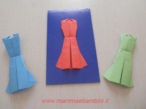 Vestito con l'origami (altra versione)