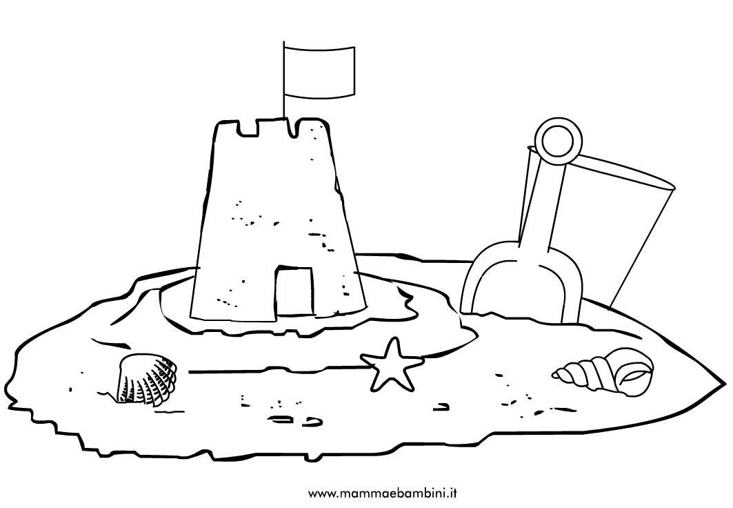 Disegni per bambini da colorare polipo mamma e bambini for Disegni da camera da spiaggia