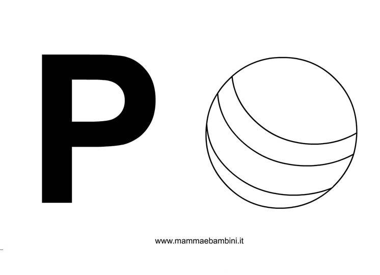 Lettera p mamma e bambini lettere alfabeto con disegni la p altavistaventures Choice Image