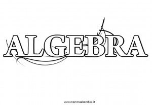 "Copertina ""Algebra"" per quaderni ragazzi"