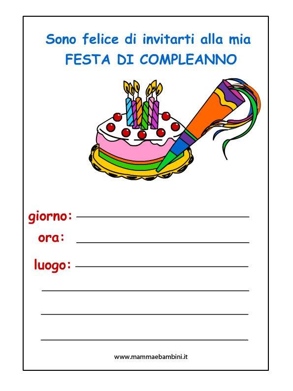 Inviti compleanno da stampare