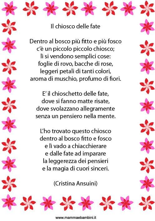 abbastanza Poesia per bambini: Il chiosco delle fate - Mamma e Bambini PQ89