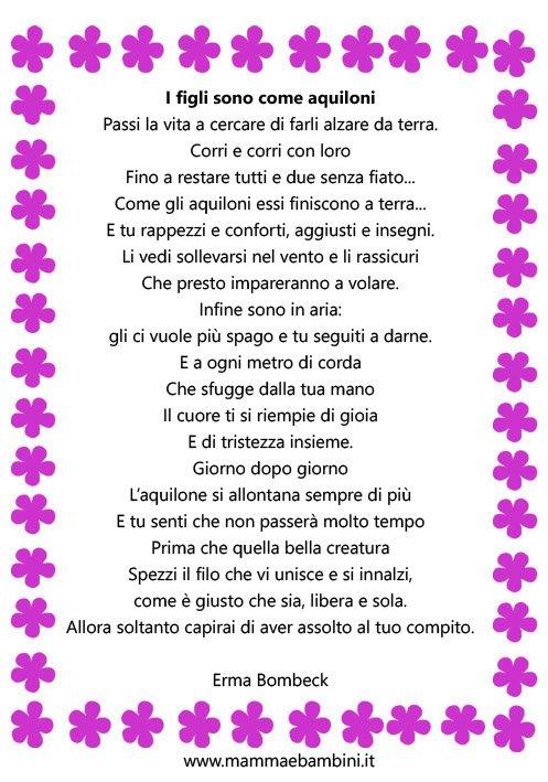Molto Poesia in cornice: I figli sono come aquiloni - Mamma e Bambini SR41