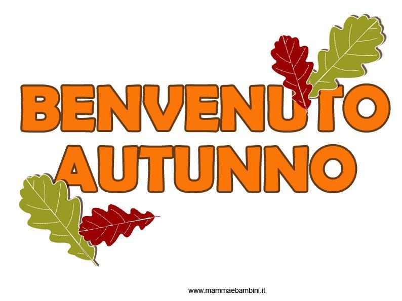 Scritta sull'autunno da stampare