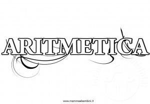 Copertina quaderno di aritmetica da stampare