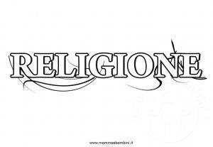 Copertina per quaderno di religione da stampare