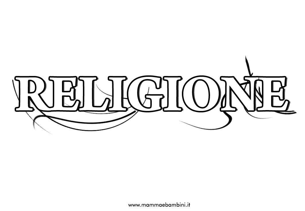 Ben noto Copertina per quaderno di religione da stampare - Mamma e Bambini BT75
