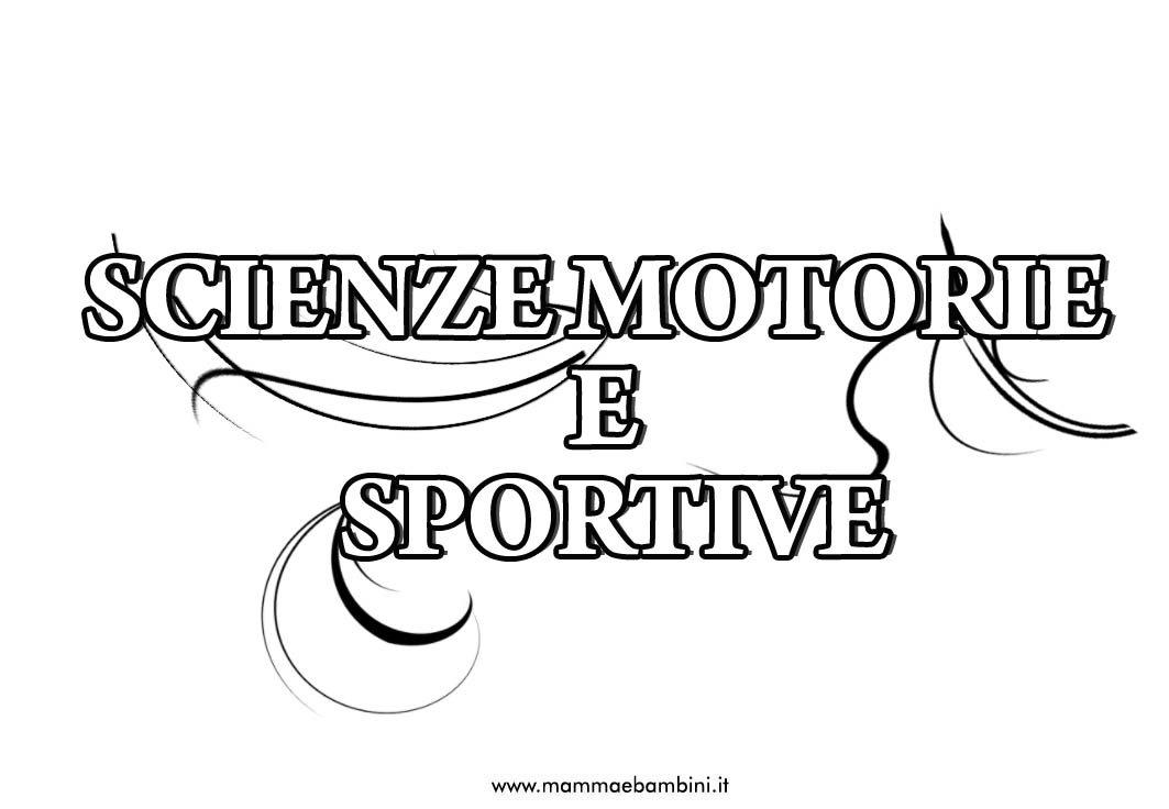 Copertina per quaderno di Scienze motorie e sportive