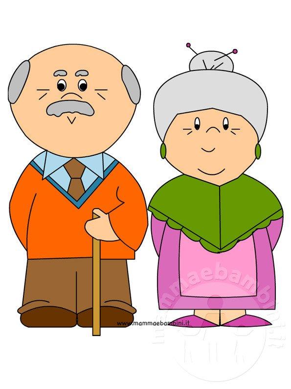 Populaire Festa dei nonni: disegno da stampare - Mamma e Bambini QJ27