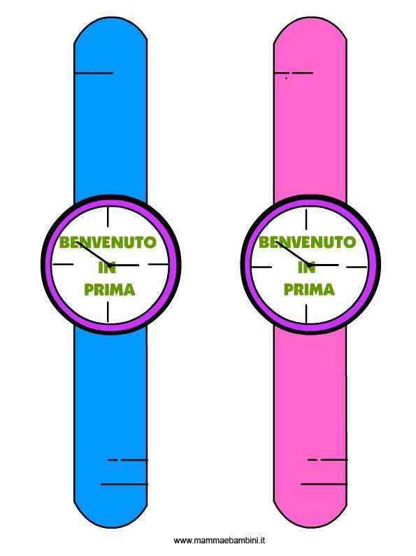 Orologi da stampare per accoglienza bambini a scuola