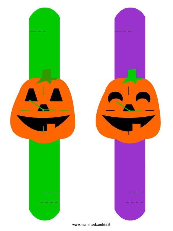 Orologi da polso per Halloween da ritagliare
