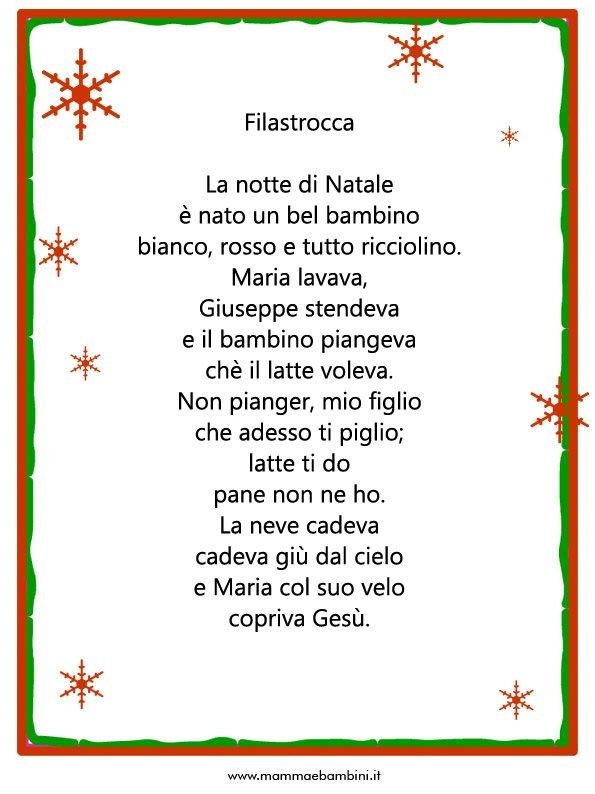 Poesie Di Natale In Siciliano.Filastrocca La Notte Di Natale Mamma E Bambini