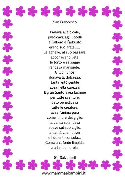 Molto poesia San francesco - Mamma e Bambini IB64