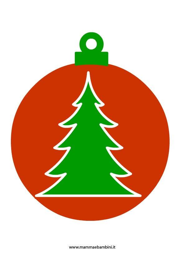 Palline di Natale con il cartoncino
