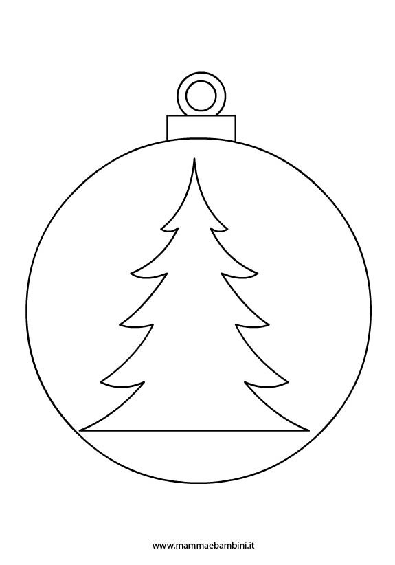 Disegni palline per albero di Natale