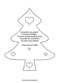 Sagoma albero di Natale con frase