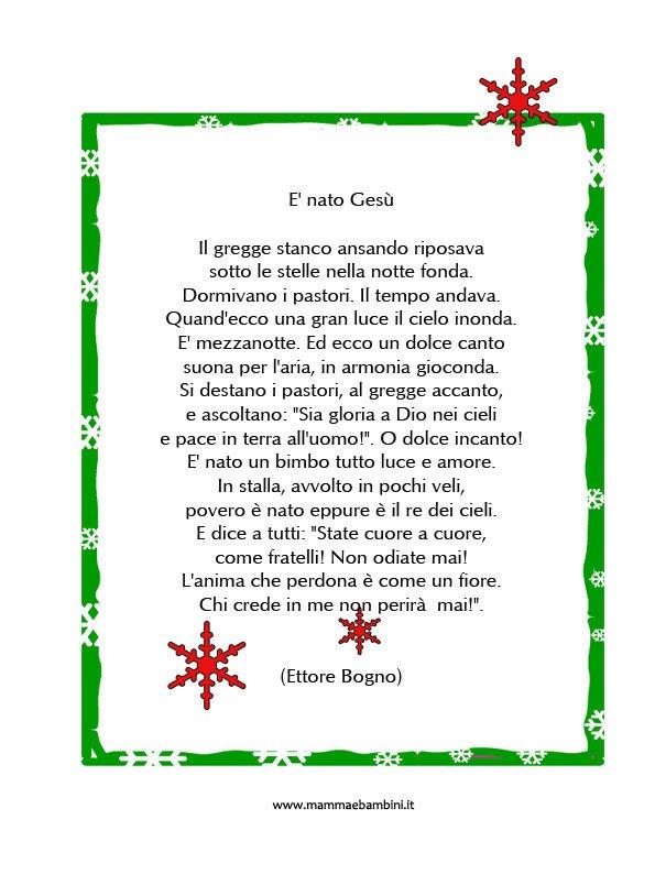 Poesie Di Natale Infanzia.Poesia Di Natale Scuola Infanzia Bologna Italian Guide