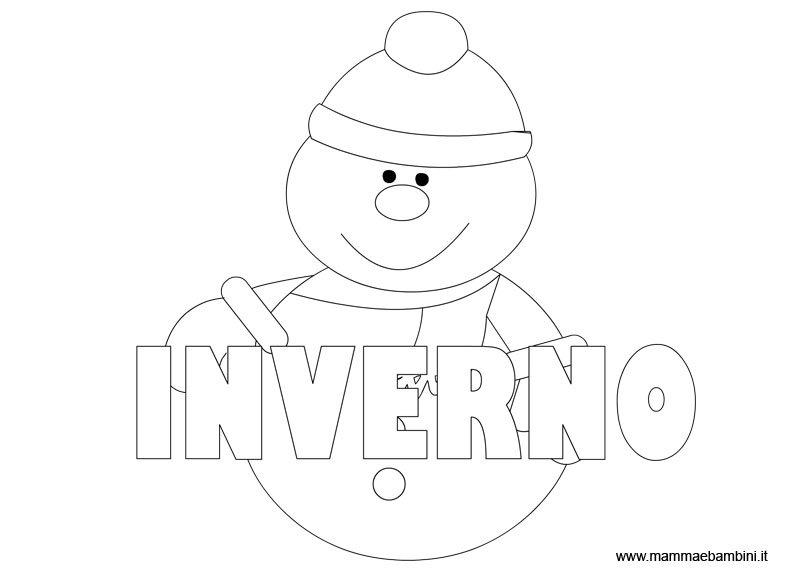 Disegno Inverno da colorare per bambini