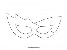 Sagoma maschera di Carnevale da colorare per bambini