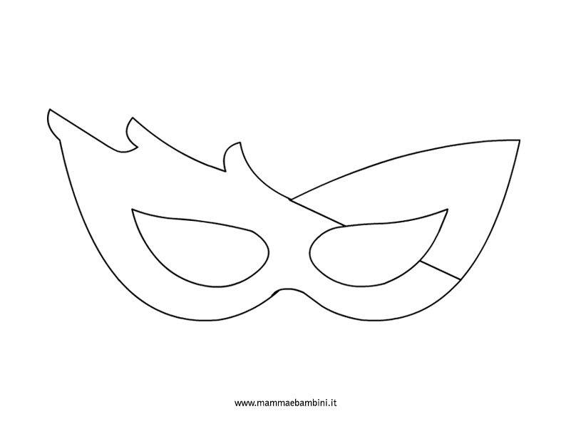maschera-fantasia da colorare