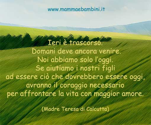 Frasi Di Madre Teresa Di Calcutta Mamma E Bambini