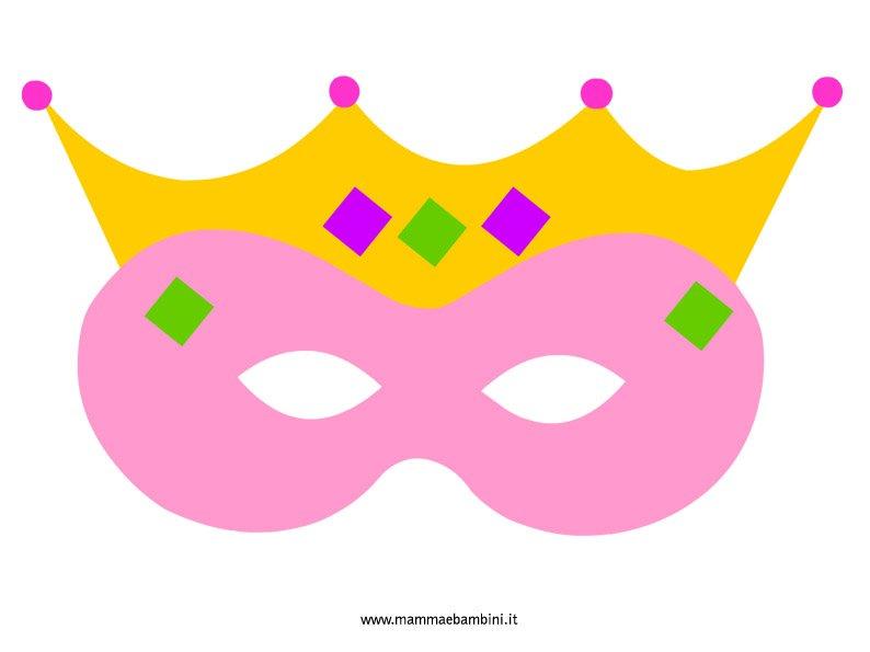 Maschera regina per bambini